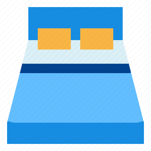 bed, furniture, pillow icon