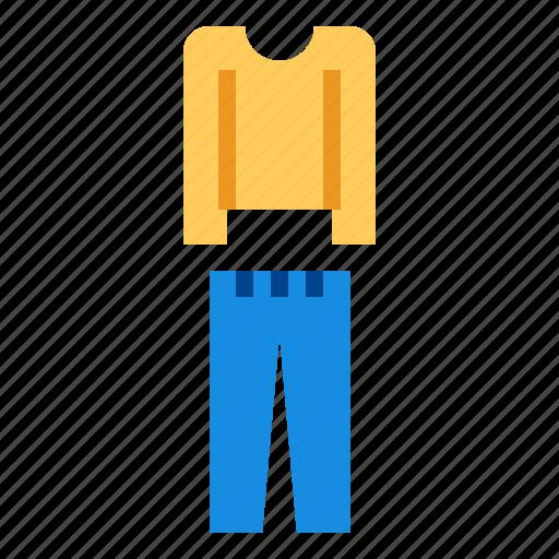 blouse, pants, shirt icon