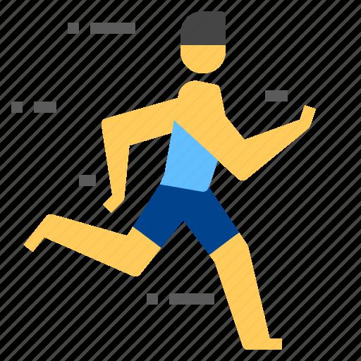 man, run, runner icon