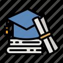 graduation, hat, student, graduated, cap