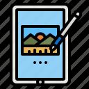 tablet, gadget, touch, screen, pen