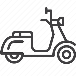 delivery, motor, scooter icon