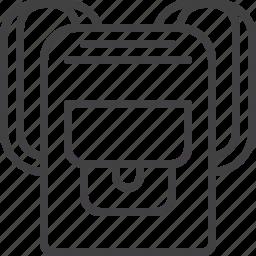 backpack, bag, rucksack, school icon