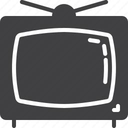 old, television, tv icon