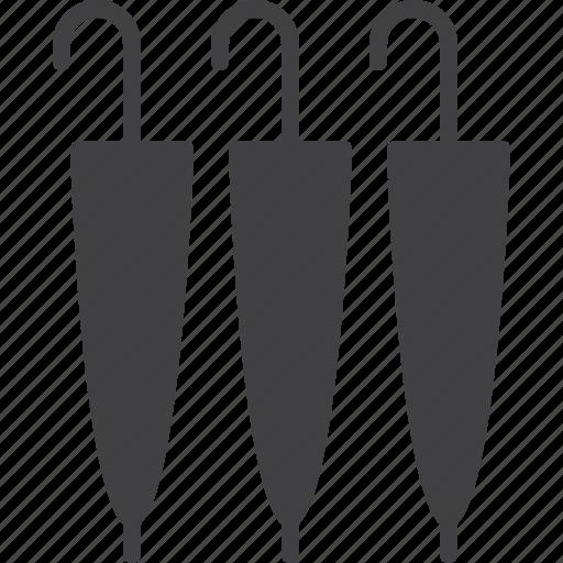 closed, umbrellas icon