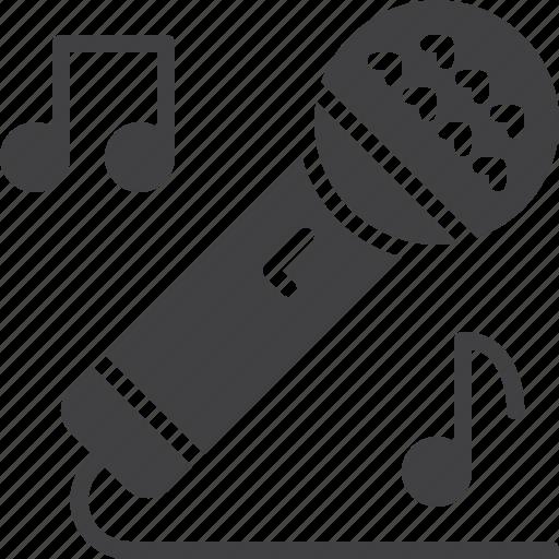 karaoke, microphone, singing icon