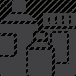 bottle, container, detergent, plastic icon