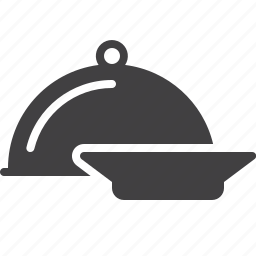 cover, food, menu, plate, restaurant icon