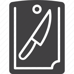 board, cooking, cutting, knife icon