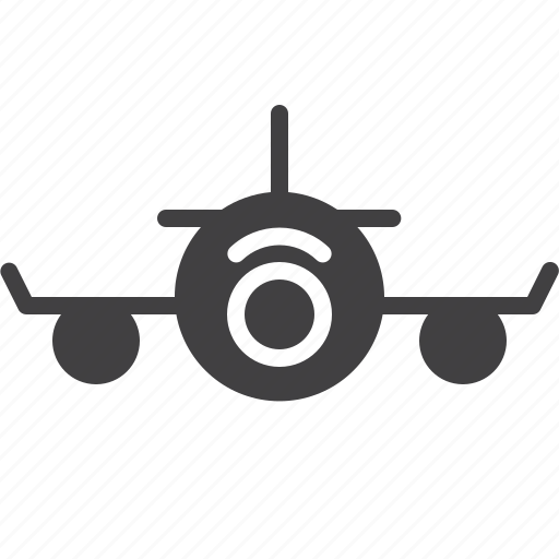 airplane, front, plane icon