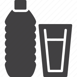 bottle, glass, plastic, water icon