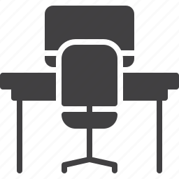 office, table, workplace icon