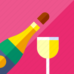 champagne, dating, lifestyle, love, romance, wine icon