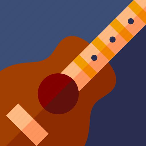 audio, guitar, instrument, lifestyle, music, play, sound icon