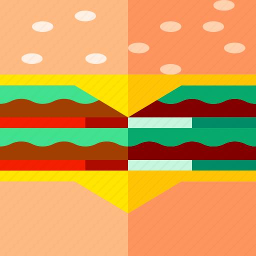 burger, eat, fast, food, hamburger, lifestyle, restaurant icon