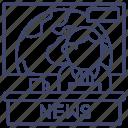 tv, news, anchor, report