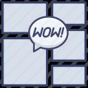 comic, book, comics, page icon