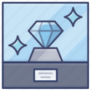 jewelry, jewel, diamond, exhibition icon