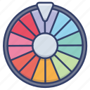 lottery, roulette, game, draw icon