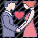 love, romantic, date, couple icon