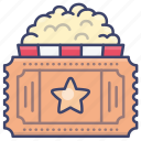 movie, ticket, film, cinema icon