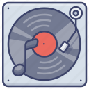 music, player, turntable, vinyl