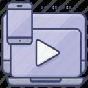 network, mobile, stream, media icon
