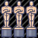 oscar, hollywood, award, movie icon