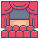 theater, opera, show, stage icon