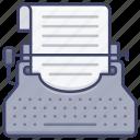 typewriter, typing, fiction, script