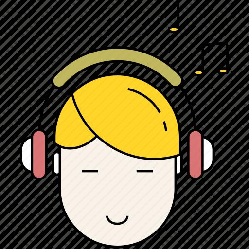 headphones, leisure, lifestyle, listen, listening, music icon