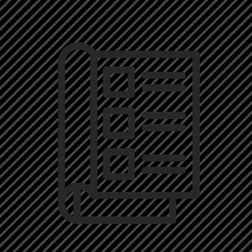 checklist, memos, notepad, tasks, voting icon