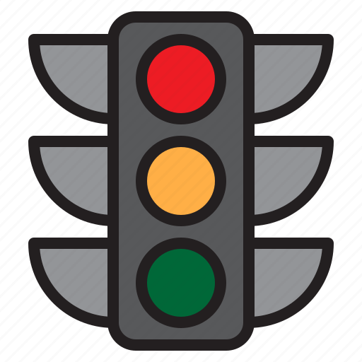 electric, lights, shine, traffic icon