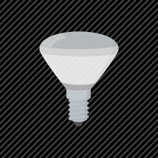 bulb, cartoon, equipment, lamp, led, light, technology icon