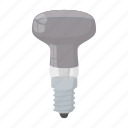 bulb, cartoon, equipment, lamp, led, light, technology icon