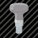 led, light, equipment, lamp, bulb, technology, cartoon icon