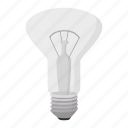 bulb, cartoon, concept, electricity, energy, idea, semicircular