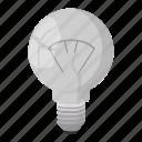 concept, electricity, light, energy, idea, bulb, cartoon icon