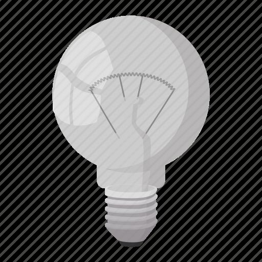 bulb, cartoon, concept, electricity, energy, idea, light icon