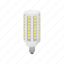 bulb, cartoon, corn, electricity, energy, led, light icon