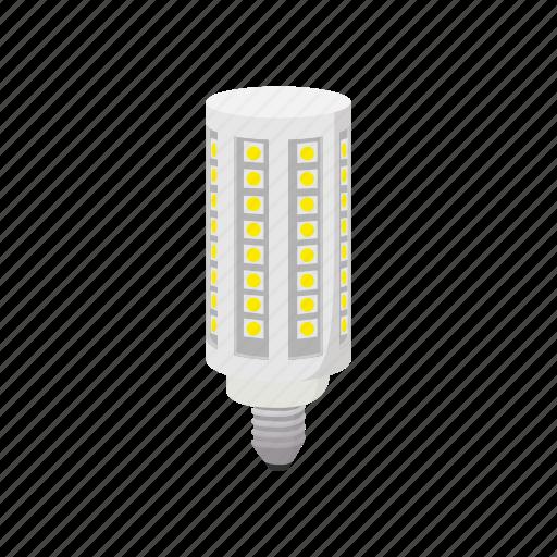 bulb, cartoon, corn, electricity, energy, led, light icon