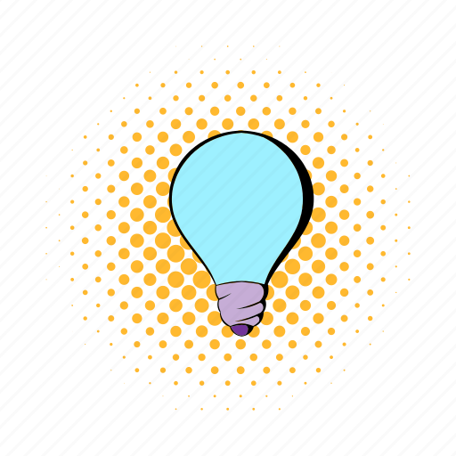 bulb, comics, electricity, energy, idea, light, lightbulb icon
