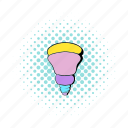 bulb, comics, equipment, lamp, led, light, technology icon