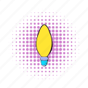 bulb, comics, electricity, energy, light, lightbulb, oval icon