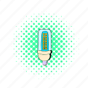 bulb, comics, corn, electric, energy, fluorescent, power icon