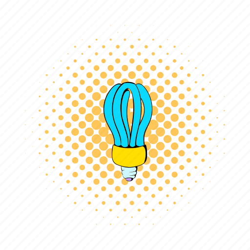 bulb, comics, electric, energy, fluorescent, idea, power icon