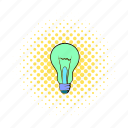 bulb, comics, electricity, energy, g13273, idea, lamp icon