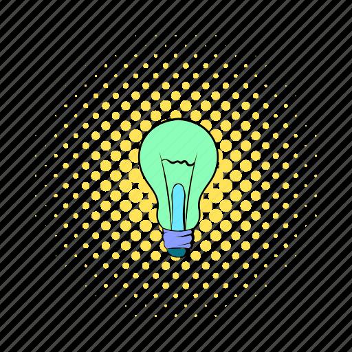 bulb, comics, electricity, energy, g13273, idea, lamp icon