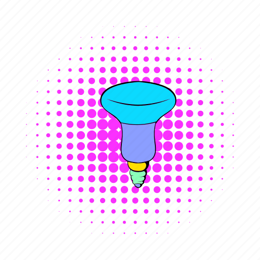 bulb, comics, equipment, lamp, led, light, technology icon