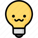 emoji, emotion, expression, face, feeling, grinning, light bulb icon